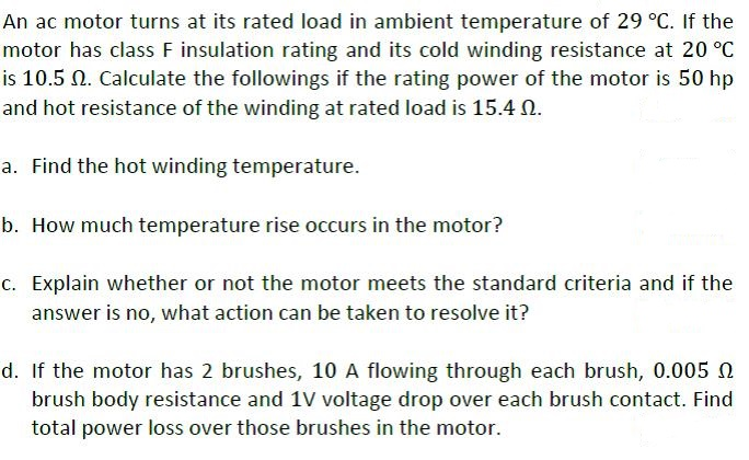 motor temperature insulation class and temperature Temperature and insulation classes electrical motors synchronous speed - the speed at which an induction motor operates electrical motors - insulation classes.