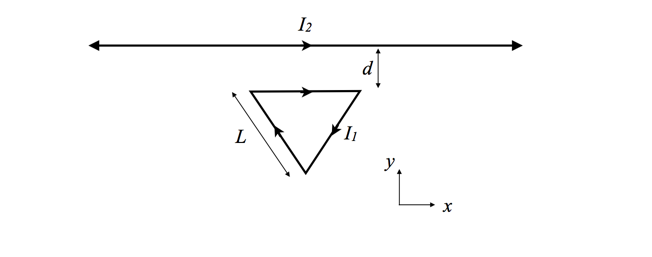 Solved: Consider An Equilateral Triangular Loop Of Wire Of ...