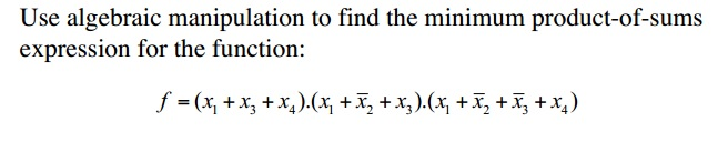 Use algebraic manipulation to find the minimum pro