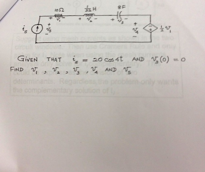 GIVEN THAT is = 20 cos4t and FIND and