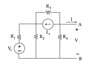 Find the Thevenin equivalent circuit at the nodes