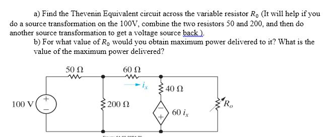 Find the Thevenin Equivalent circuit across the va