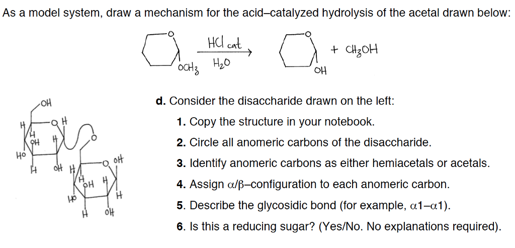 Solved: As A Model System, Draw A Mechanism For The Acid-c ...