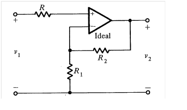 Given: =12V, Vinfinity =-9V, R2 = 2R1 Plot v2 vs