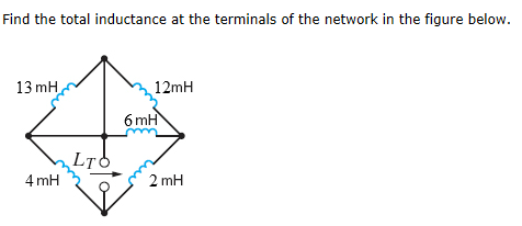Find the total inductance at the terminals of the