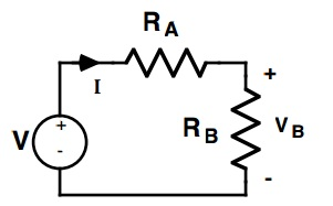Using the voltage divider circuit (shown in Figu