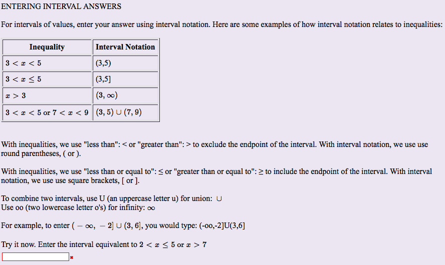 Solved: For Intervals Of Values, Enter Your Answer Using I ...