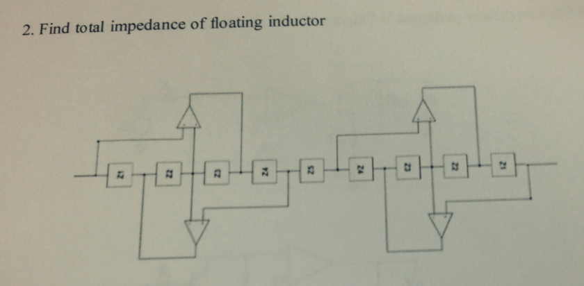 Find total impedance of floating inductor