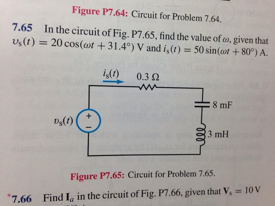 Figure P7.64: Circuit for Problem 7.64. In the ci