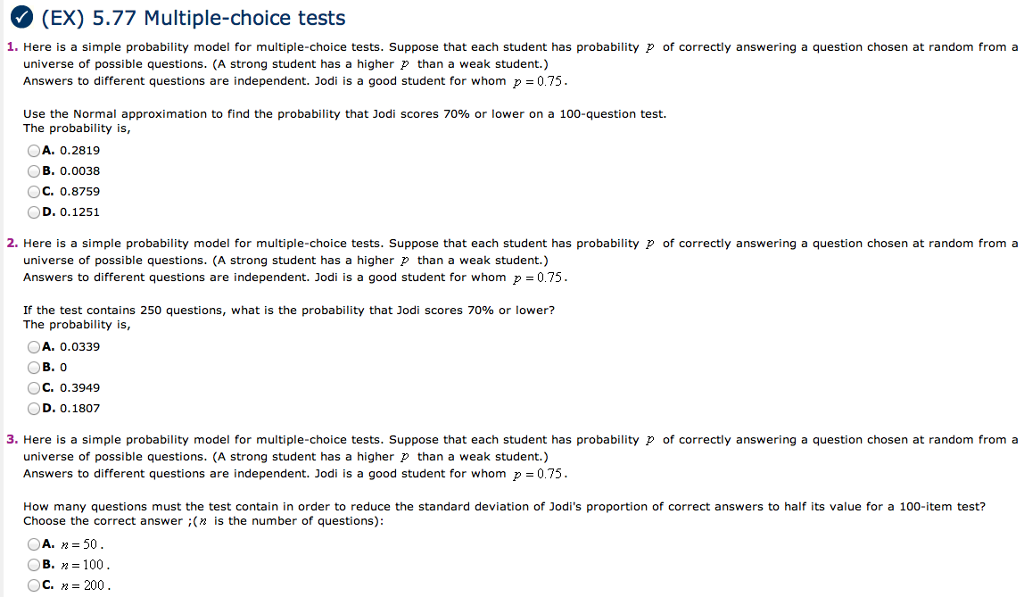 probability test questions