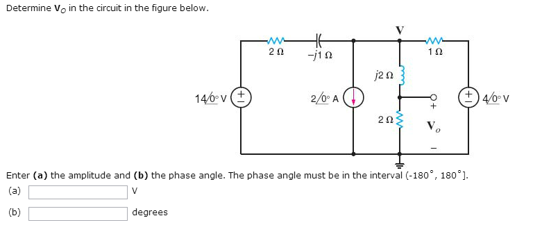 Determine V0 in the circuit in the figure below.