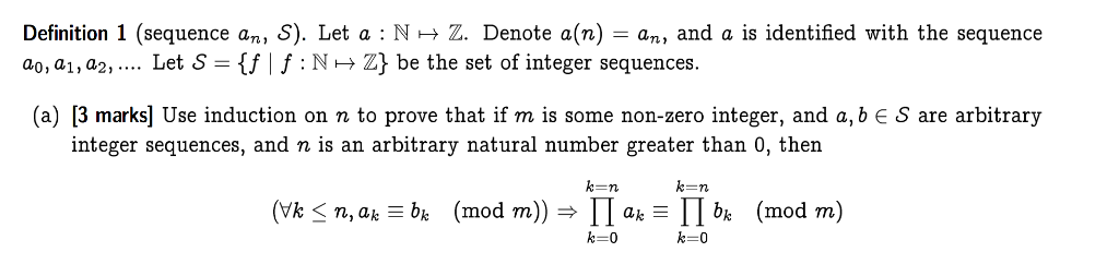 Perfect Definition 1 (sequence An, S). Let A : N 2.