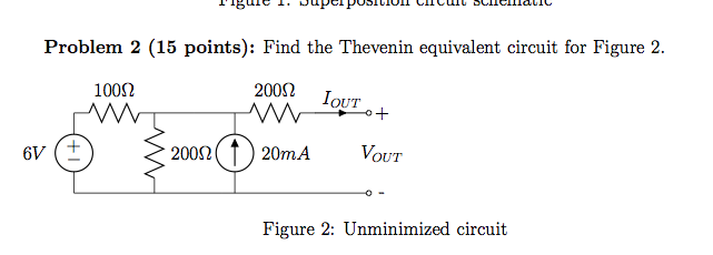 Find the thevenin equivalent c