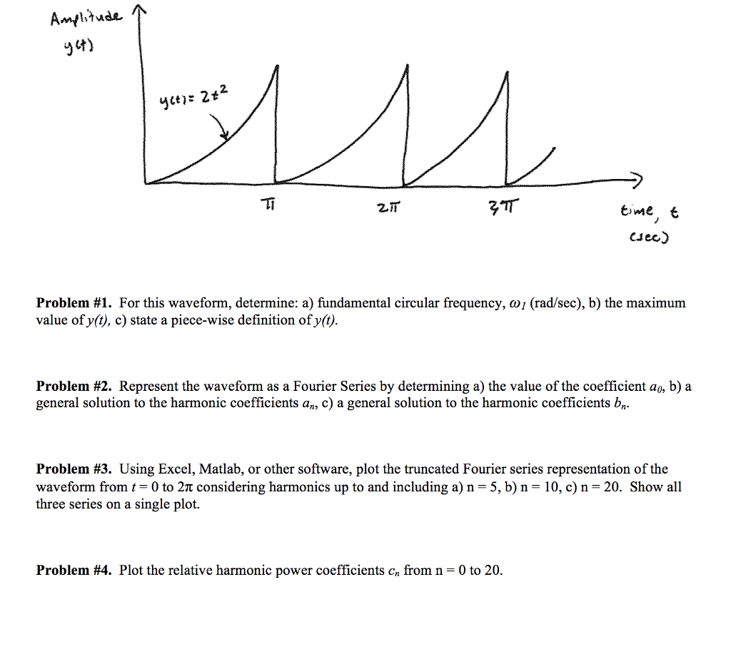 Cj Ec) Problem #1 For This Waveform, Determine: A