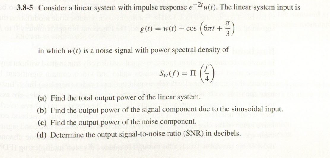 Consider a linear system with impulse response e-2