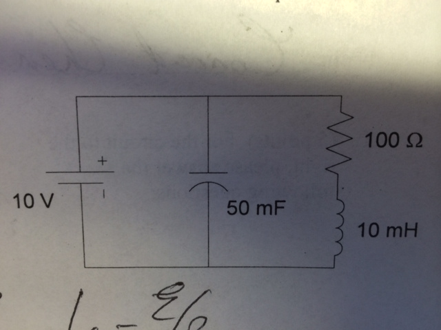 For the circuit, assume steady state DC. What is