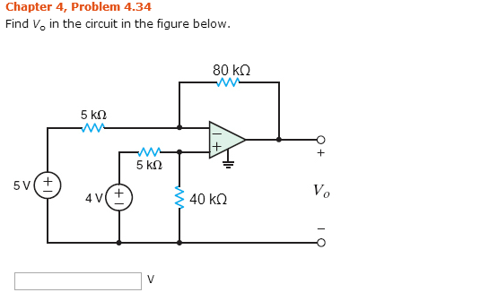 Find V 0 in the circuit in the figure below.