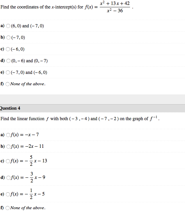 Solved: The Graph Of The Function F(x) = X^2+5x+4 /x^2+4x+...