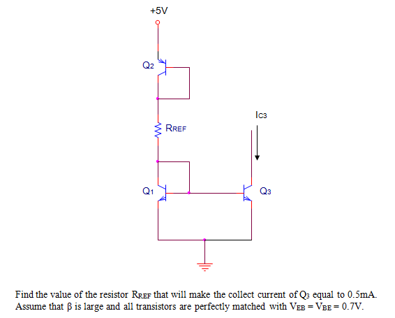 Find the value of the resistor RREF that will make