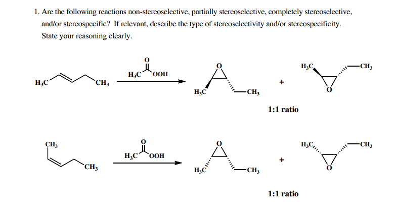 Are the following reactions non-stereoselective, p