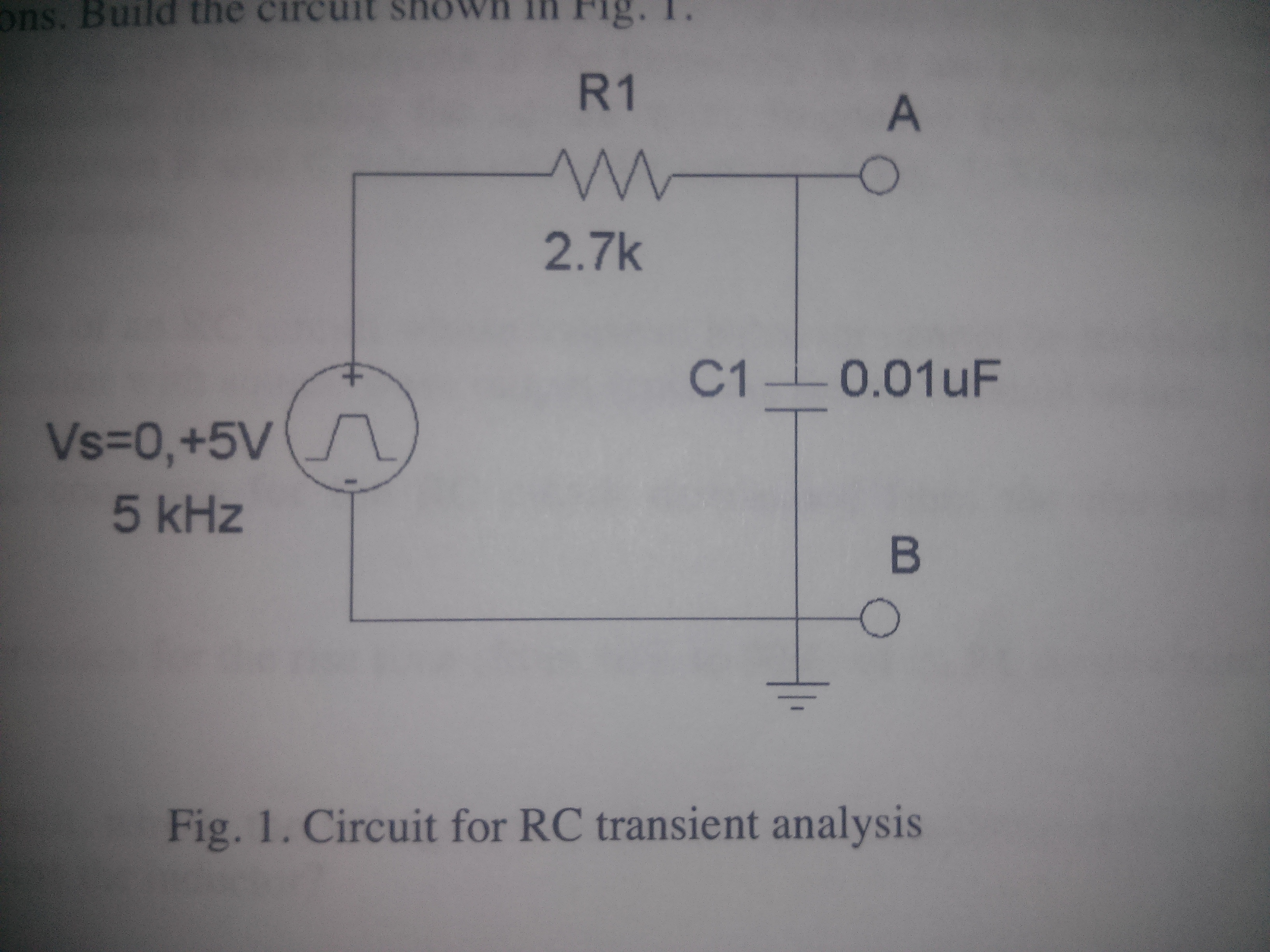 Fig. 1. Circuit for RC transient analysis