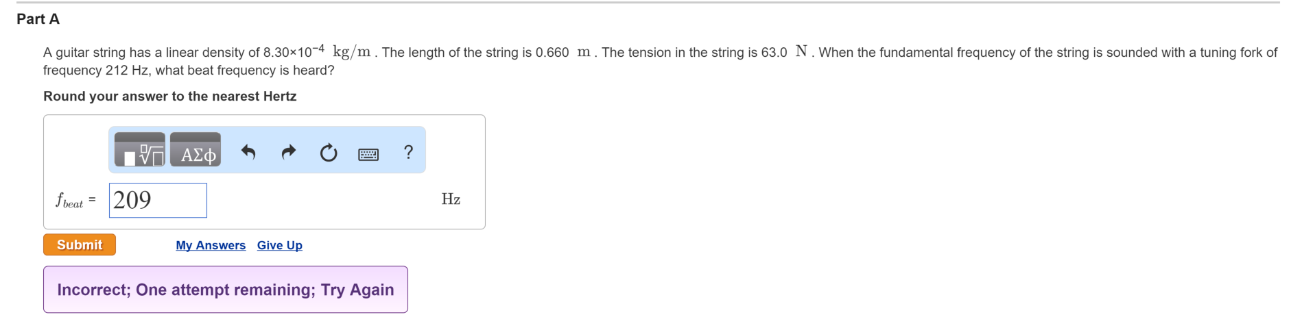 Solved a guitar string has a linear density of 830104 part a a guitar string has a linear density of 83010 4 kg pooptronica Images