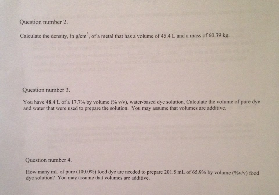 Calculate the density, in g/cm3 , of a metal that