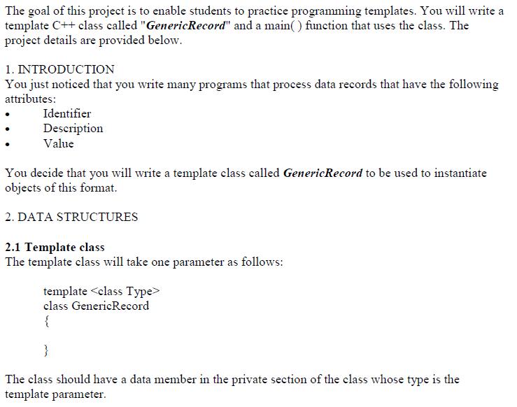 programming templates