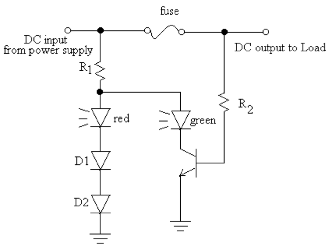If the DC input voltage from the power supply is