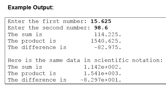 Programming Fundamentals. Floating Point Numbers Scientific ...