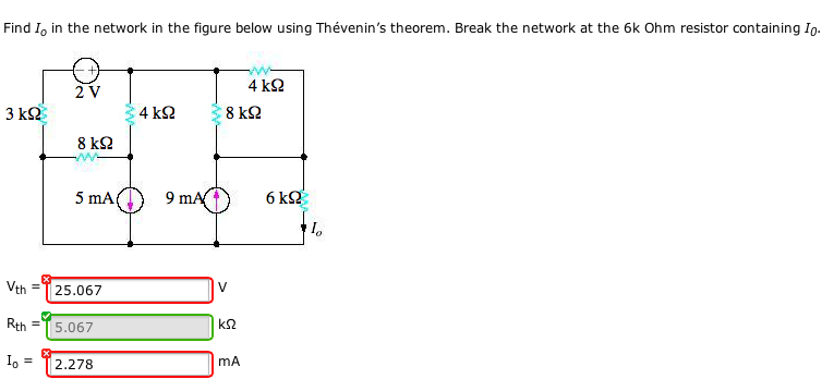 Find I0 in the network in the figure below using T