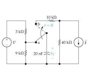 The switch in the circuit has been in position a f