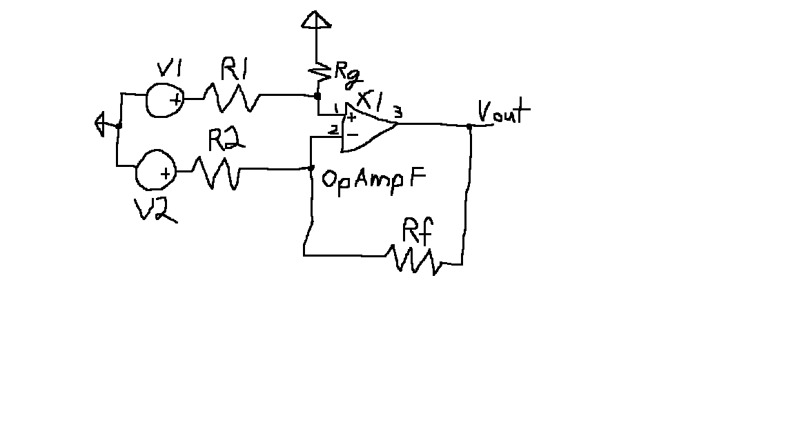 DC opamp circuit: Using node-voltage method deriv