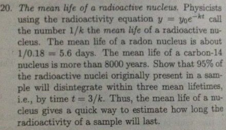 The mean life of a radioactive nucleus. Physicists