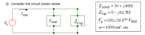 Consider the circuit shown bwlow XLOAD=30+J40ohm