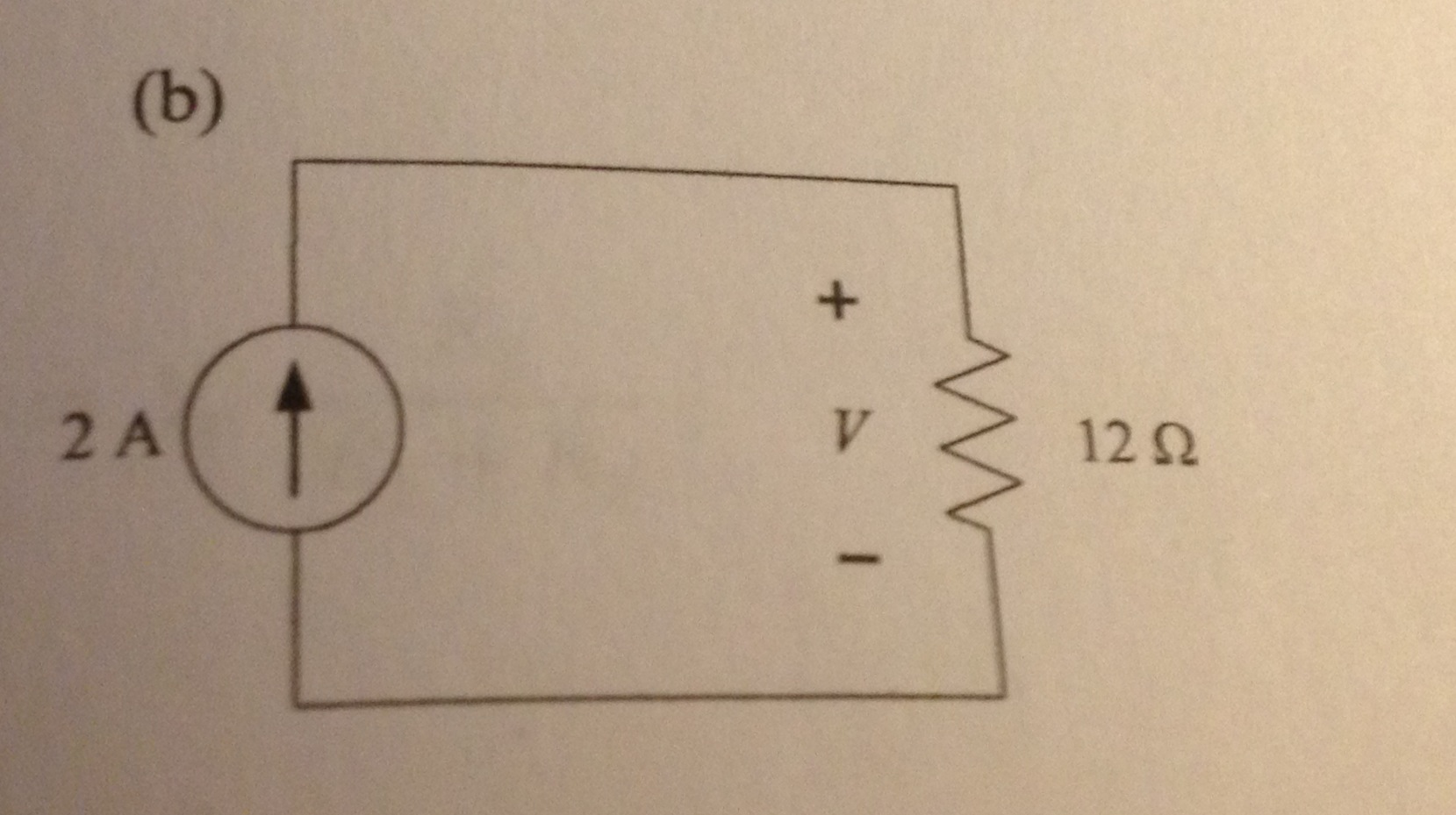Determine the voltage across t