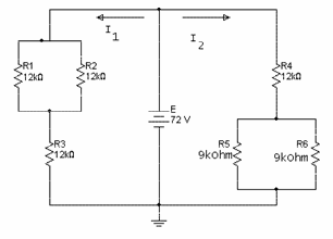 For the series-parallel circuit given in figure be
