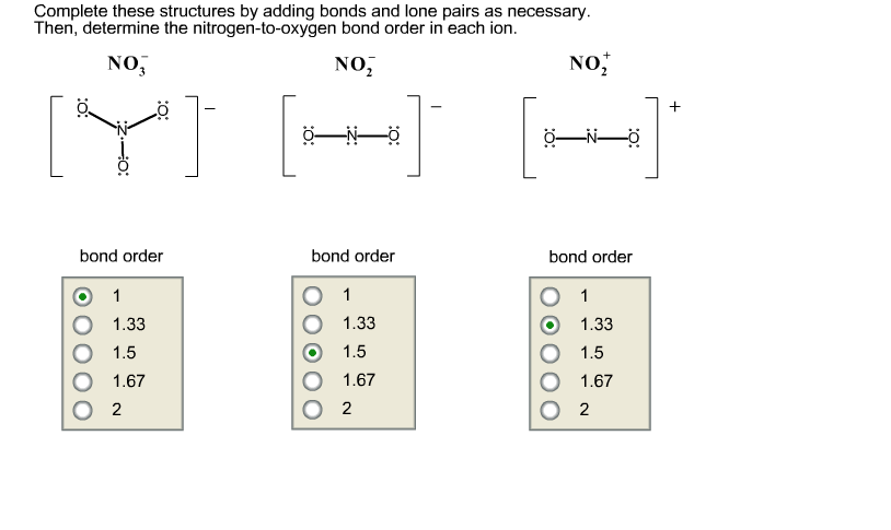 Solved complete these structures by adding bonds and lone question complete these structures by adding bonds and lone pairs as necessary then determine the nitrog ccuart Choice Image