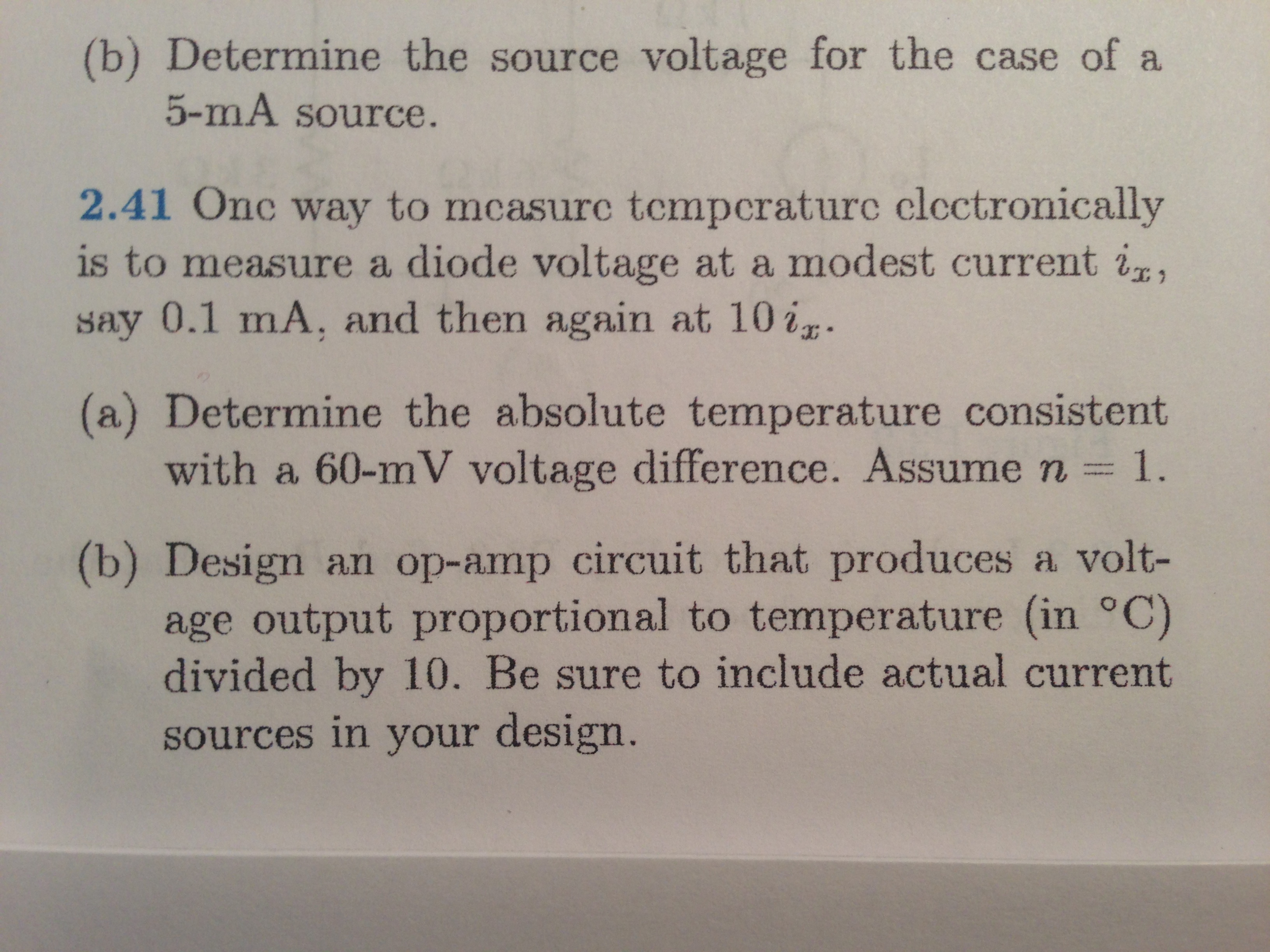 Determine the source voltage for the case of a 5-m
