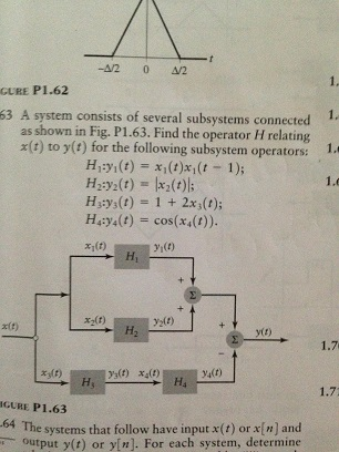 A system consists of several subsystems connected