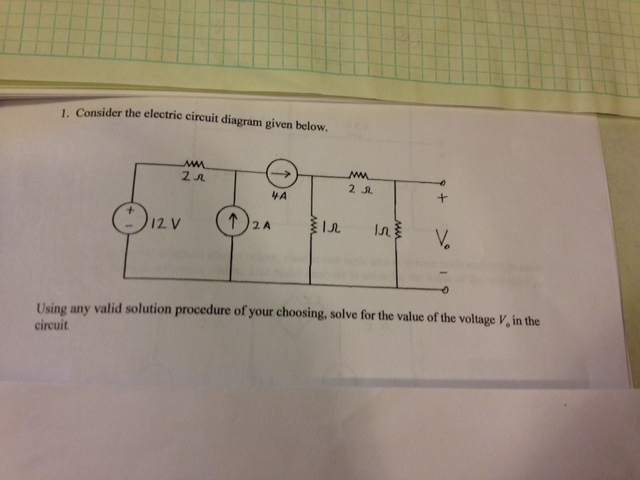 Consider the electric circuit diagram given below.