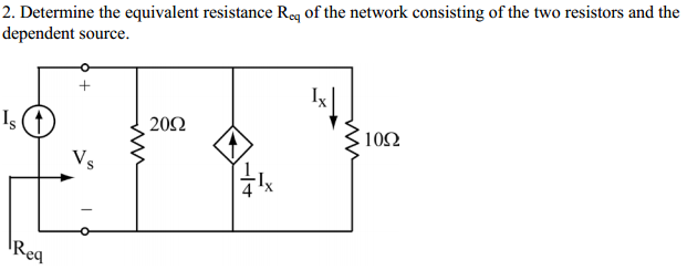 Determine the equivalent resistance R eq of the ne