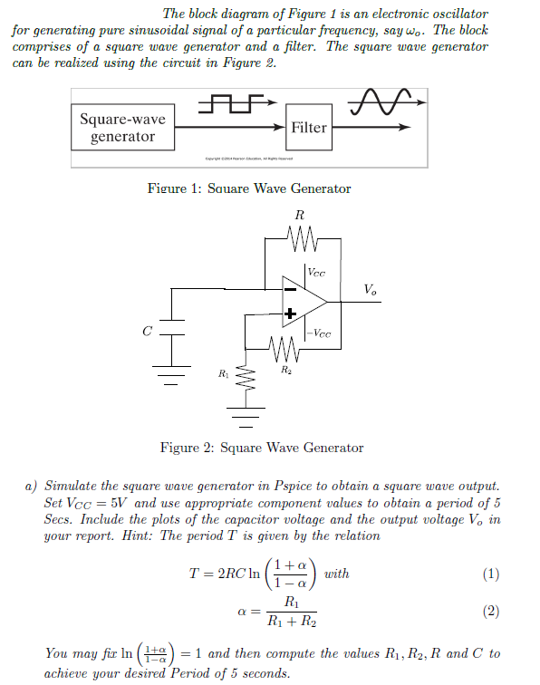 The block diagram of Figure 1 is an electronic osc