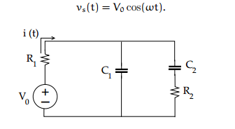 Compute current i(t) through resistor R Compute