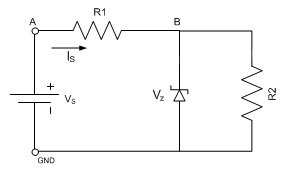 For the Zener circuit shown: Zener Voltage VZ = 5