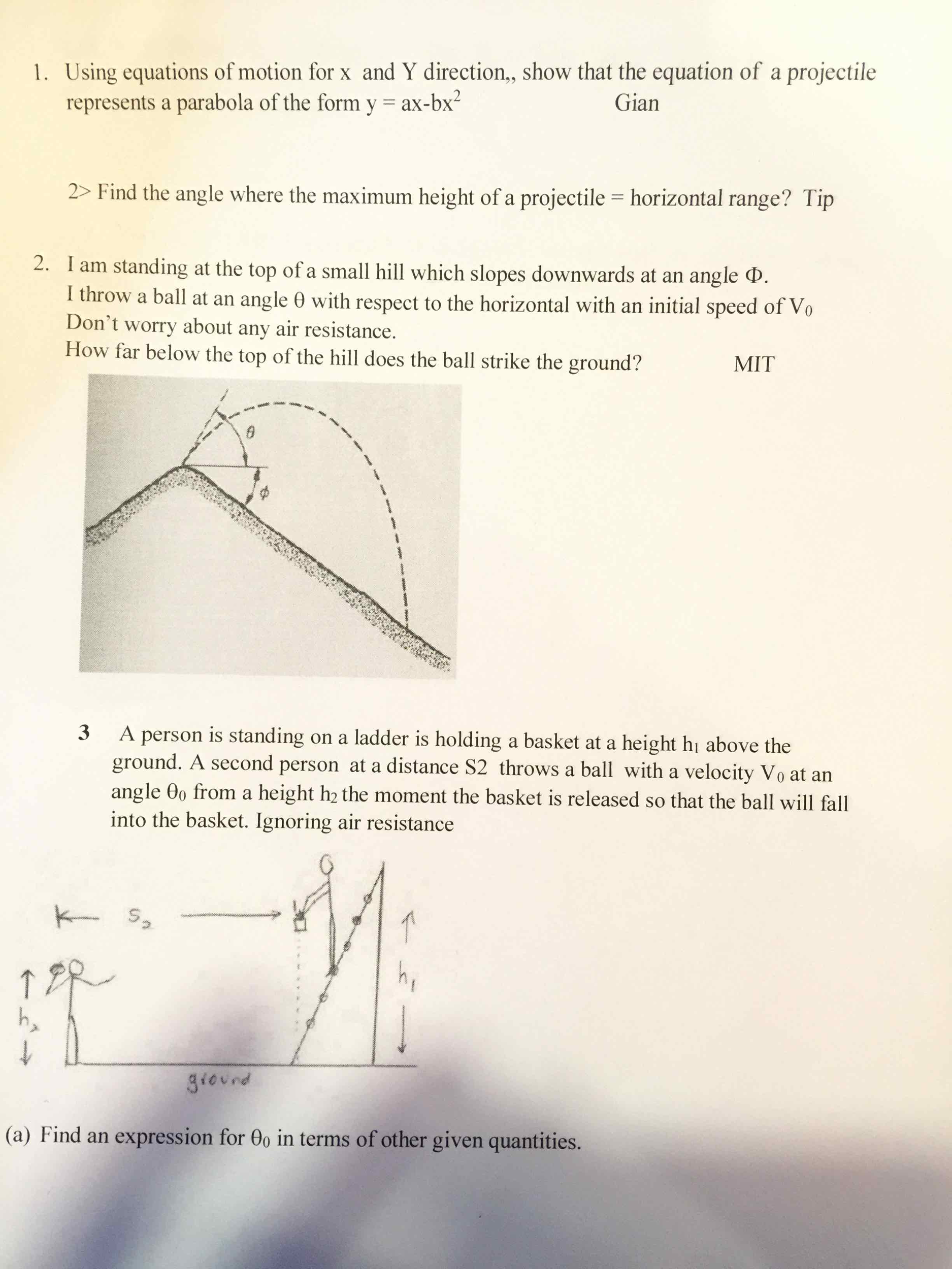 Question: L Sing Equations Of Motion For X And Y Direction, L Sing  Equations How To Find