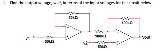 .Find the output voltage, vout
