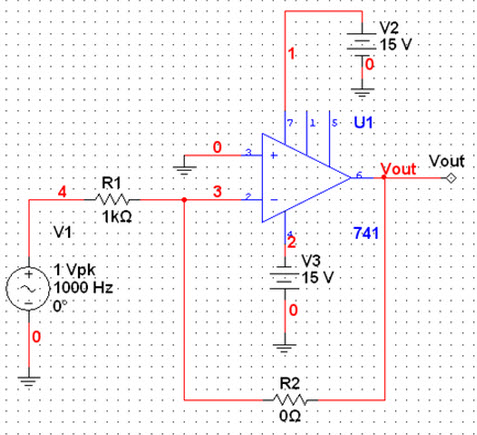 Given a voltage gain of -10, determine the value o