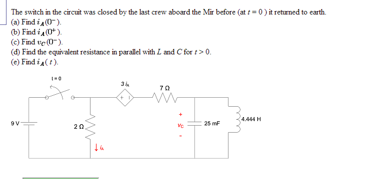 The switch in the circuit was closed by the last c