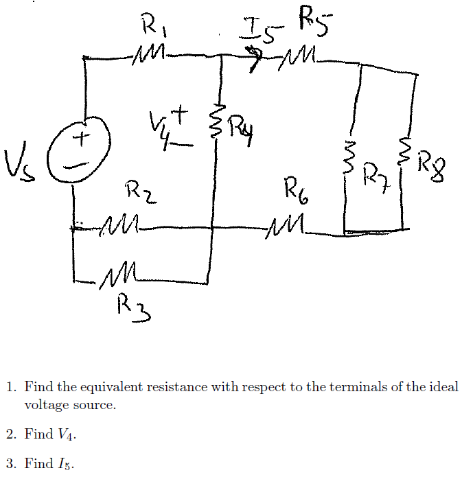 Find the equivalent resistance with respect to the
